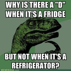 Philosoraptor questions spelling. OMG! I never thought of that.