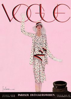 Vintage Vogue Magazine, 1929.  Georges Lepape.