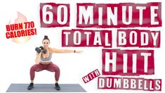60 Minute Total Body HIIT Workout With Dumbbells ? Workout at Home Tabata Workouts, Dumbbell Workout, Body Workouts, Boxing Workout, Workout Board, Step Workout, Workout Diet, Workout Plans, Youtube Workout