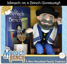 Mensch on a Bench just like Elf on a Shelf ...but different.