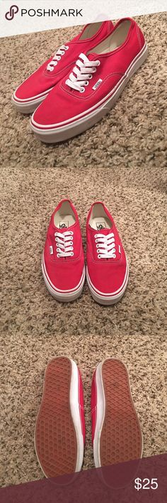 Red Vans! Only wore twice and need them gone ASAP! Vans Shoes Sneakers