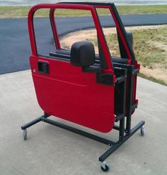 Storage for your Jeep doors after you remove them from the vehicle. Jeep dooru2026 & DIY door storage cart - Jeep Wrangler Forum | jeep stuff by Chap ...