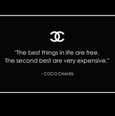 #chanel #quote #shopping #materialist so true