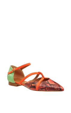 Flame Veronica Flat by Malone Souliers (=)