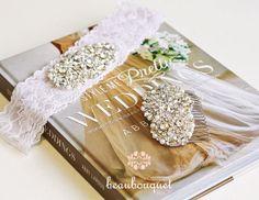 SWAROVSKI Bridal Sash Rhinestone Bridal Beaded by beaubouquet, $189.00