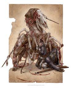 Мрачные картинки,красивые картинки,keith thompson,длиннопост,undead