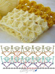 Вязание по кругу узора Зефирка   Crochet by Ellej   Вязание крючком от Елены Кожухарь