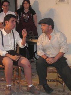 Juan y Antonio en la Dramatización de un texto de Almudena Grandes
