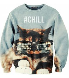 Sweat oversize Catty Chill