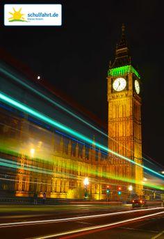 Das Wahrzeichen Großbritanniens bei Nacht. www.schulfahrt.de #London #England #BigBen #Großbritannien