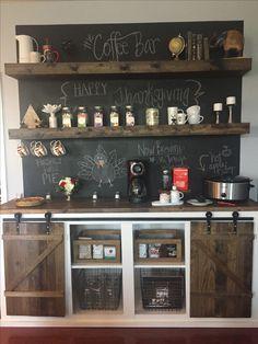 Coffee bar. #diy #coffeebar