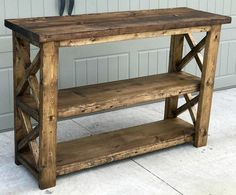 Step by Step Guide on how to build this Rustic X Entryway Console
