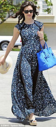 Emmy Rossum's spring style