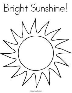 sunshine coloring pages eassume - Sunshine Coloring Pages Printable