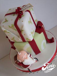 Christmas Cake by Jen's Cakery, via Flickr