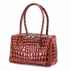 Giorgio Fedon 1919 Compact Crocodile-print Leather Handbag at the Shopping Mall, £450.00   Discounted Price: £405.00 (GBP)