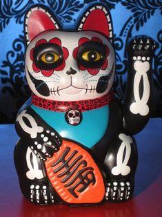 Dia de los Muertos Maneki-neko #招き猫