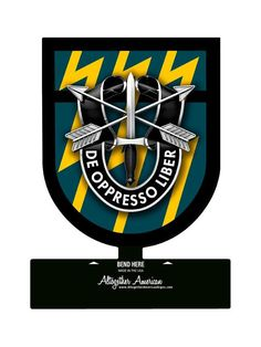 From the Altogether American licensed collection, this Special Forces Group Sign custom metal shape measures 15 inches by 18 inches and weighs in at 2 lb(s). This custom metal shape is hand made Green Beret, Special Ops, Special Forces, Military Life, Military Art, Special Force Group, Special Operations Command, Military Insignia, Table Signs