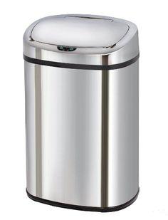 Kitchen Move BAT-58LS06 AS Poubelle Automatique de Cuisine Carré Finition Chrome…
