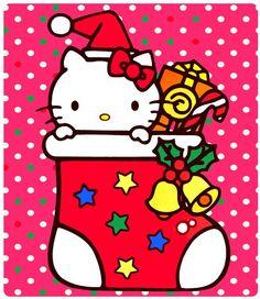 Hello Kitty Christmas Stocking! Sanrio Hello Kitty, Hello Kitty Characters, Sanrio Characters, Christmas Themes, Christmas Cards, Christmas Stockings, Christmas Sweaters, Hello Kitty Christmas, Little Twin Stars