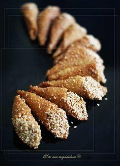 Cornets au sésame | Rdv aux mignardises