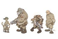 ArtStation - Character design for the comic SOLO. The Chaos Survivors., Oscar Martin