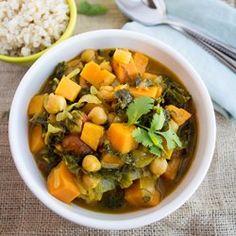Kale, Sweet Potato & Chickpea curry