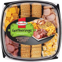 "#ad  #spon FTC guidelines disclose ""I received free product in exchange for my honest review  HORMEL GATHERINGS<sup>®</sup> Honey Ham & Turkey Party Tray 28oz"