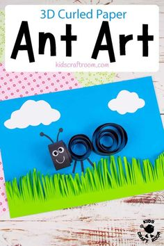 How cute is this 3D Curled Paper Ant Craft? It's a great way to introduce kids to quilling. It's a lovely ant art idea to use as a Summer Camp craft and it's fun for insect fans all year round. #kidscraftroom #kidscrafts #kidsart #quilling #ants #summercampcrafts #summercrafts Ant Crafts, Insect Crafts, Paper Crafts For Kids, Summer Camp Crafts, Rainy Day Crafts, Camping Crafts, Fun Activities For Kids, Craft Activities, Preschool Crafts