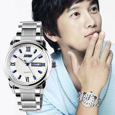 $23.99 (Buy here: https://alitems.com/g/1e8d114494ebda23ff8b16525dc3e8/?i=5&ulp=https%3A%2F%2Fwww.aliexpress.com%2Fitem%2FSkmei-Men-s-Quartz-Luxury-Shock-Resistant-Stainless-Date-Fashion-Watches-Calendar%2F32690666821.html ) Skmei Men's Quartz  Luxury Shock Resistant Stainless Date Fashion Watches Calendar for just $23.99