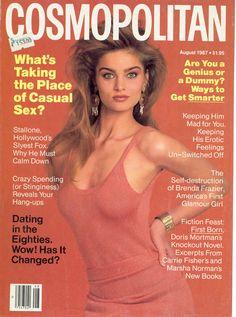 Cosmopolitan magazine, AUGUST 1987 Model: Carine Holties Photographer: Francesco Scavullo