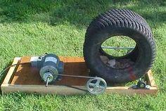 Pulley motor rock tumbler