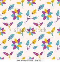 flower and leaf pattern by mhatzapa, via Shutterstock #design #graphic #background #floral