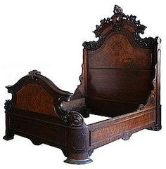 Beautiful American Renaissance Revival Bed (Bedroom Suites) at Antiquarian Traders Victorian Bedroom Furniture, Victorian Decor, Victorian Homes, Antique Furniture, Home Furniture, Victorian Era, My Home Design, House Design, Renaissance