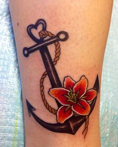 Adorable Ankle Tattoo Designs For Girls - Cute Ankle Tattoos for Women - Best Tattoo Ideas And Designs Tattoo Girls, Tattoo Designs For Girls, Flower Tattoo Designs, Flower Tattoos, Girl Tattoos, Tattoos For Guys, Anchor Tattoos With Flowers, Small Tattoos, Wild Tattoo
