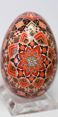 Traditional Polish Easter Egg, Rose Design