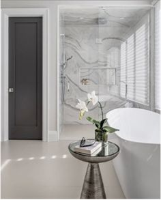 An ensuite dream, this showstopping shower breathes in elegance and sophistication into a calm and refined space. Product — Invictus White (Shower) Design — @sharilernerdesigns Photographer — @gillian.jackson Build — @casabuildgroup White Shower, Porcelain Tiles, Stone Tiles, Hardwood, Jackson, Boards, Calm, Space, Elegant