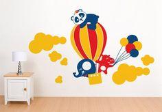 00594 Sticker Wall Stickers Wall Stickers kids wallpaper Walls Baby Nursery Rooms Children Flying Animals 05