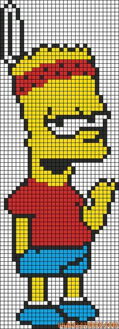 Pixel Art Bart Simpson