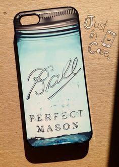 Limited Edition MASON JAR iphone 5 case // Samsung Galaxy s4 mason glass jar // juice or die mason Galaxy s3case on Etsy, $20.00