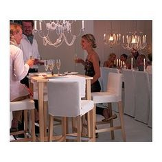 BJÖRKUDDEN Bar table - IKEA. Table for kitchen nook. Stain it/paint then get 3 matching stools