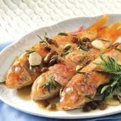 Μπαρμπούνια σαβόρo Greek Recipes, Fish Recipes, Seafood Recipes, Cooking Recipes, Recipies, Greek Meze, Eat Greek, Greek Cooking, Easter Recipes