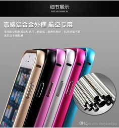 Time Limited Sale 25% OFF, only $2.24/ Piece 50pcs  2015 Luxury Hybrid Aluminum Frame + Metal Case For Apple iphone 6 Ultra Thin 0.5mm Phone Back Cover Shell For iphone 6 4.7''