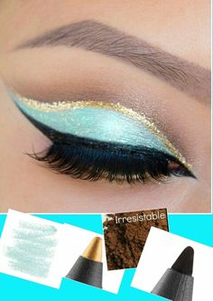 Recreate this look using Younique Products. Percision Pencil Eyeliner in Polished, Precious and Perfect. Mineral Pigment Powder in Irresistable.