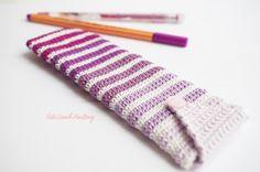 Crochet Pencil case crochet purple Pencil Case by CuteLambKnitting