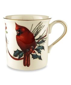Lenox A hand-painted Winter Greetings 12 oz. Mug of Lenox bone china captures the radiant plumage of the beloved cardinal and trimmed in precious gold. Fill a mug with flavored coffees or teas for an extra special touch. Holiday Dinnerware, Christmas Dishes, Christmas China, Christmas Decor, Lenox Christmas, Christmas Parties, Merry Christmas, Holiday Decor, Different Birds