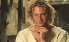 Heath Ledger gif bts A Knight's Tale