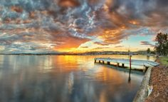 Weekender Guide to Lake Macquarie - Find perfect kayaking, beach caves and your own private holiday home on the water. Travel And Leisure, Caves, Weekender, Kayaking, Celestial, Sunset, Beach, Holiday, Outdoor