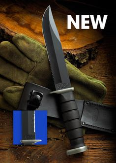 Wheter you're in the back woods or the back yard, this co-branded CUTCO/KA-BAR knife will be a trusted sidekick.