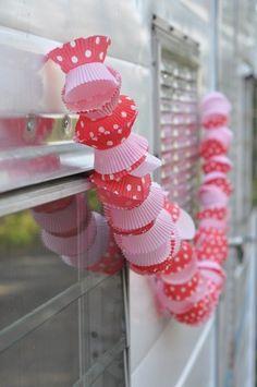 cupcake liner garland by elisa